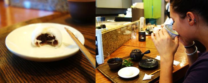 drinking tea in tokyo