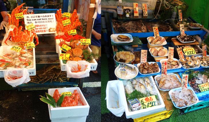 seafood in tokyo