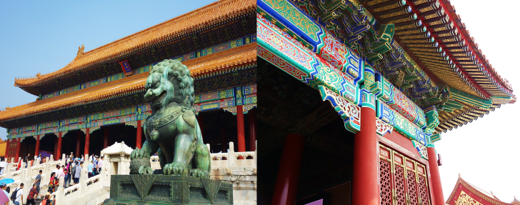 lion at forbidden city Beijing