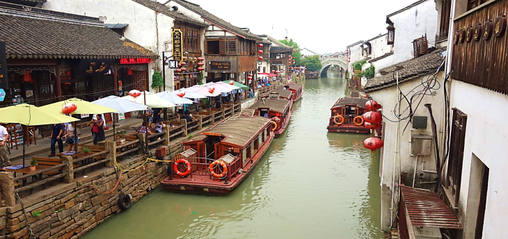 along the grand canal in suzhou