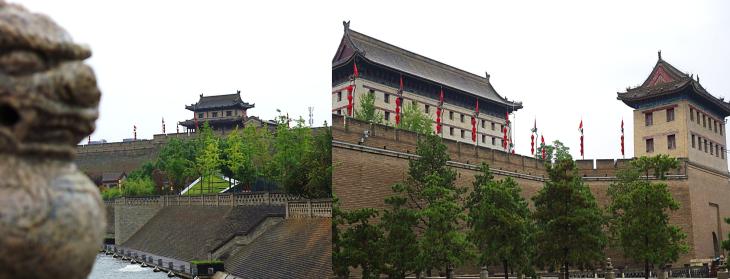 Guard Towers Xian City Walls China