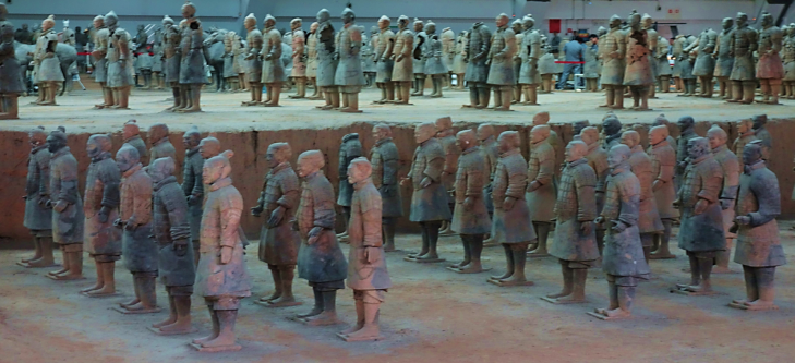 Rows of Terracotta Warriors Xian
