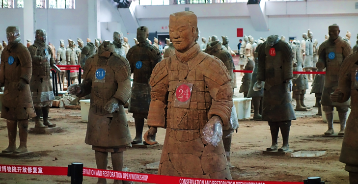 Terracotta Warrior Repair Xian