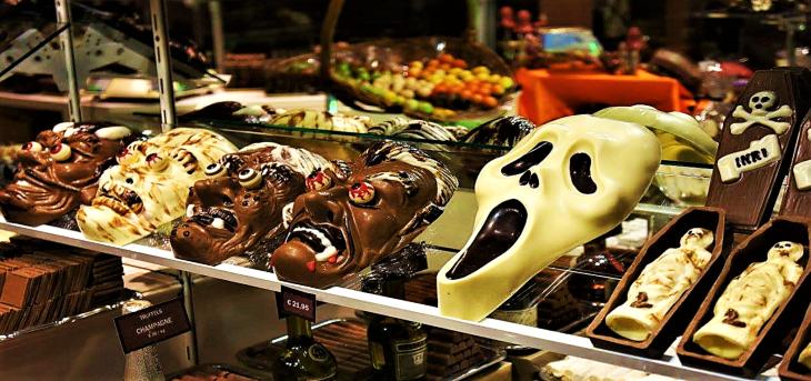 belgian halloween chocolate
