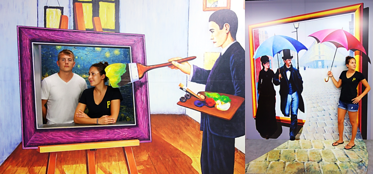 living painting trick eye museum
