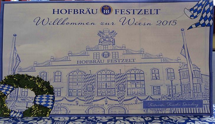 Hofbrau Festzelt Oktoberfest Sign