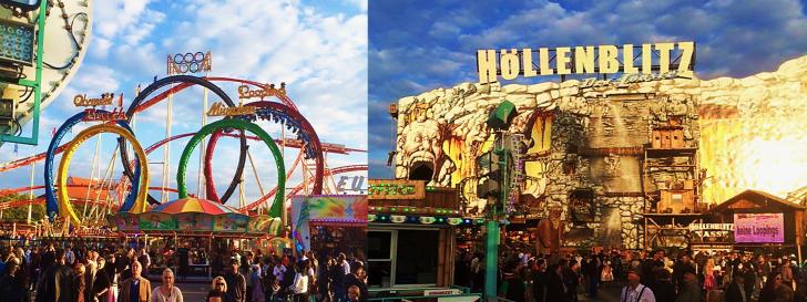 Oktoberfest rollercoaster Hollenblitz