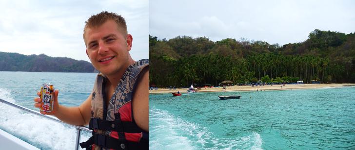 boat ride to tortuga island costa rica