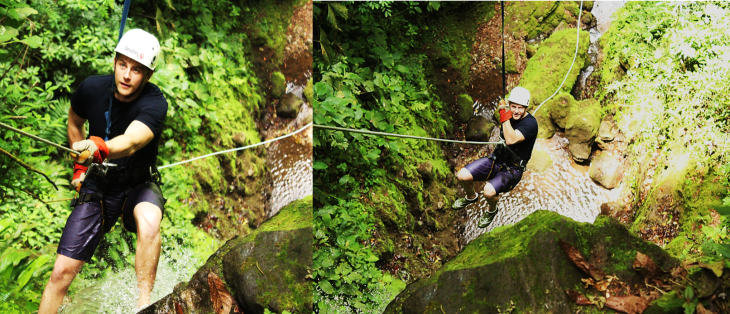 mitch canyoneering la fortuna