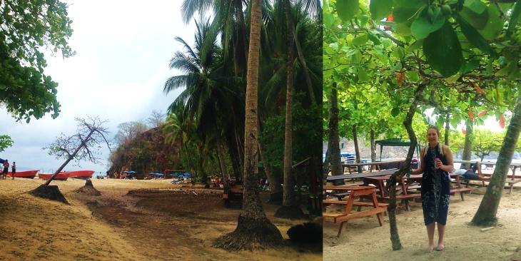 picnic area on tortuga island costa rica