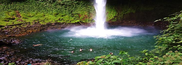 swimming pool at la forunta waterfall costa rica