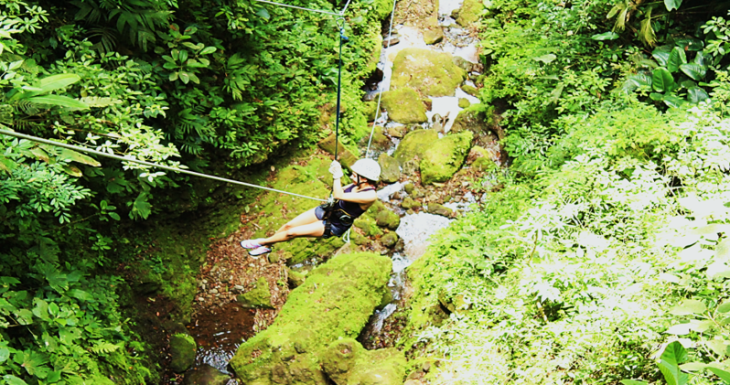 ziplining over the canyon la fortuna