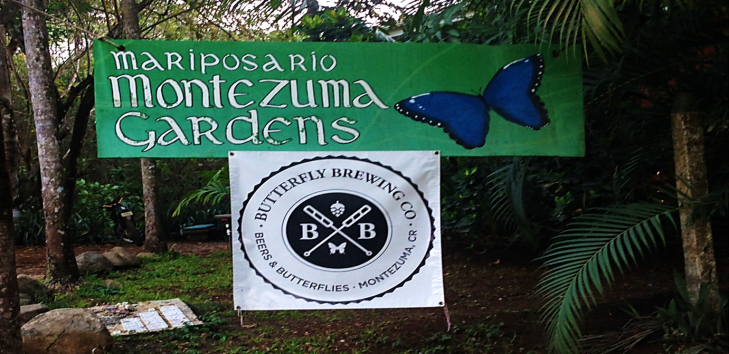 motezuma butterfly brewery sign