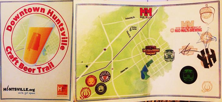 huntsville craft beer trail map