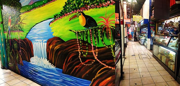 mural in central market san jose costa rica