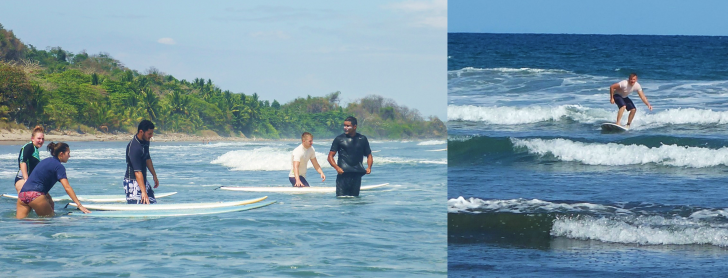 surfing in montezuma