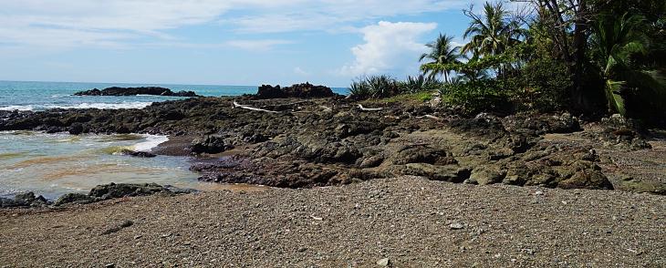 volcanic rock beach montezuma