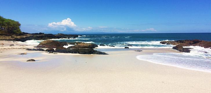 white sand beach montezuma