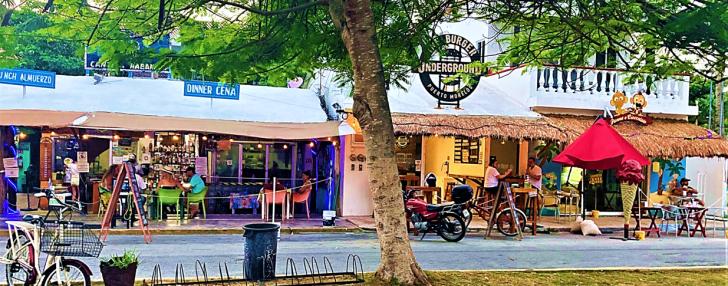 downtown puerto morelos mexico