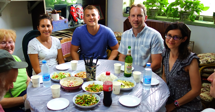 G Adventures lunch in China
