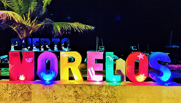 light up puerto morelos sign