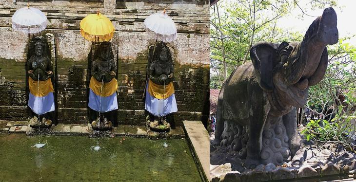 Hindu Angels at the Elephant Cave Goa Gajaj in Bali