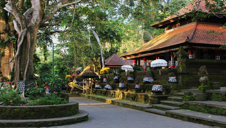 Siva Temple in the Monkey Forest