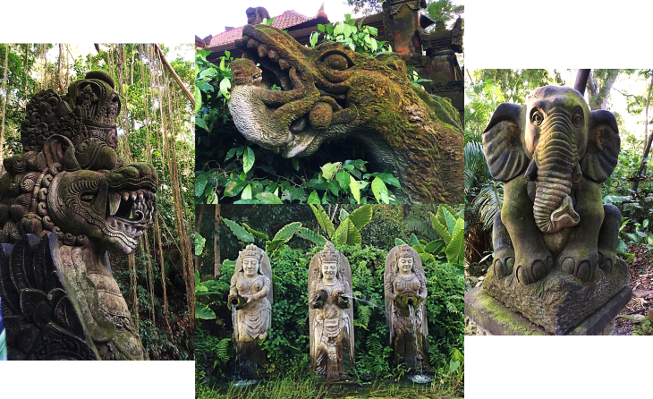 Statues at the Monkey Cave
