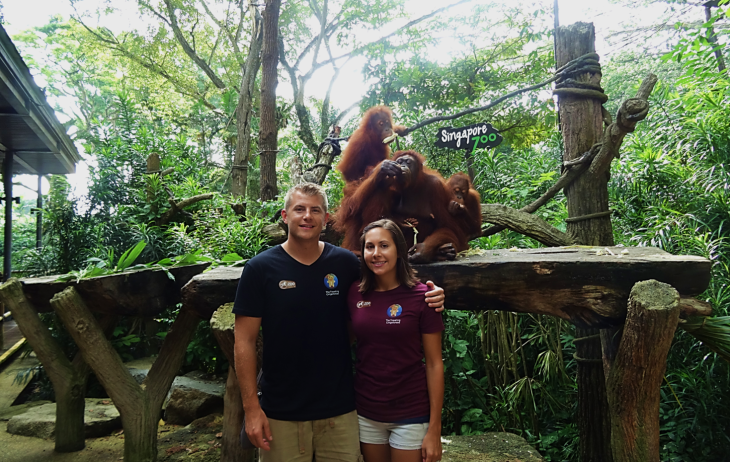 Us at Singapore Zoo with Orangutans