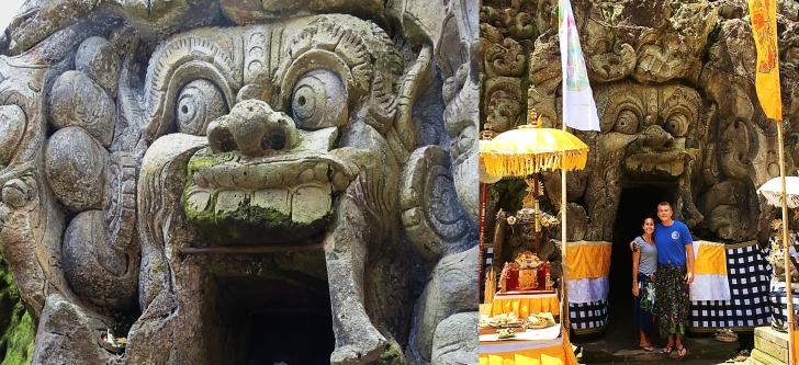 Us at the Elephant Cave Entrance Goa Gajaj