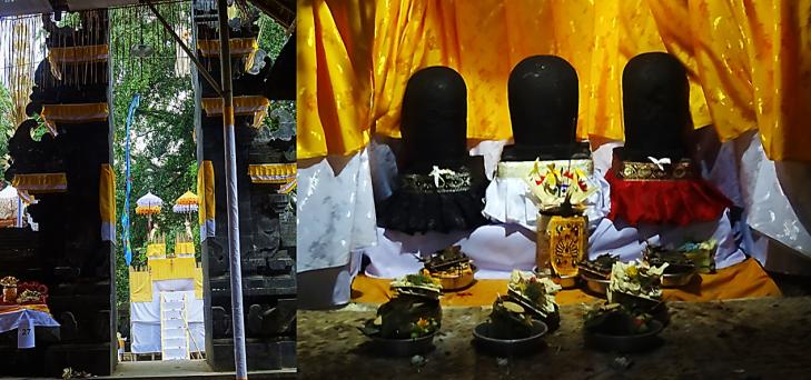 stone idols in elephant cave
