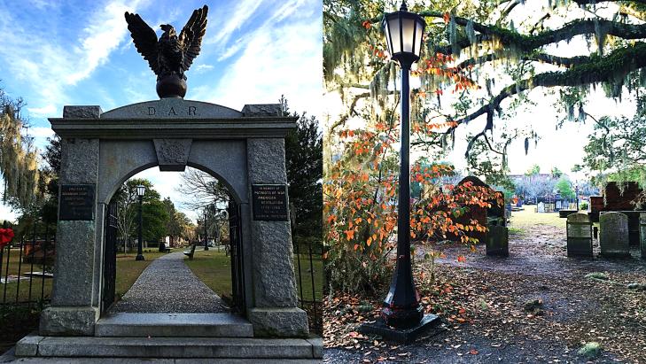 entrance to colonial park cemetery savannah