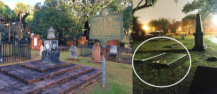 table top grave in savannah cemetery