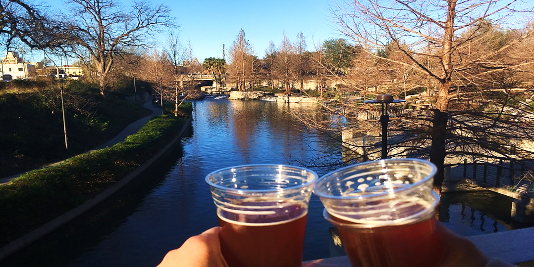 cheers by the san antonio river