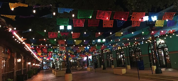 Historic Market Sqaure at night San Antonio