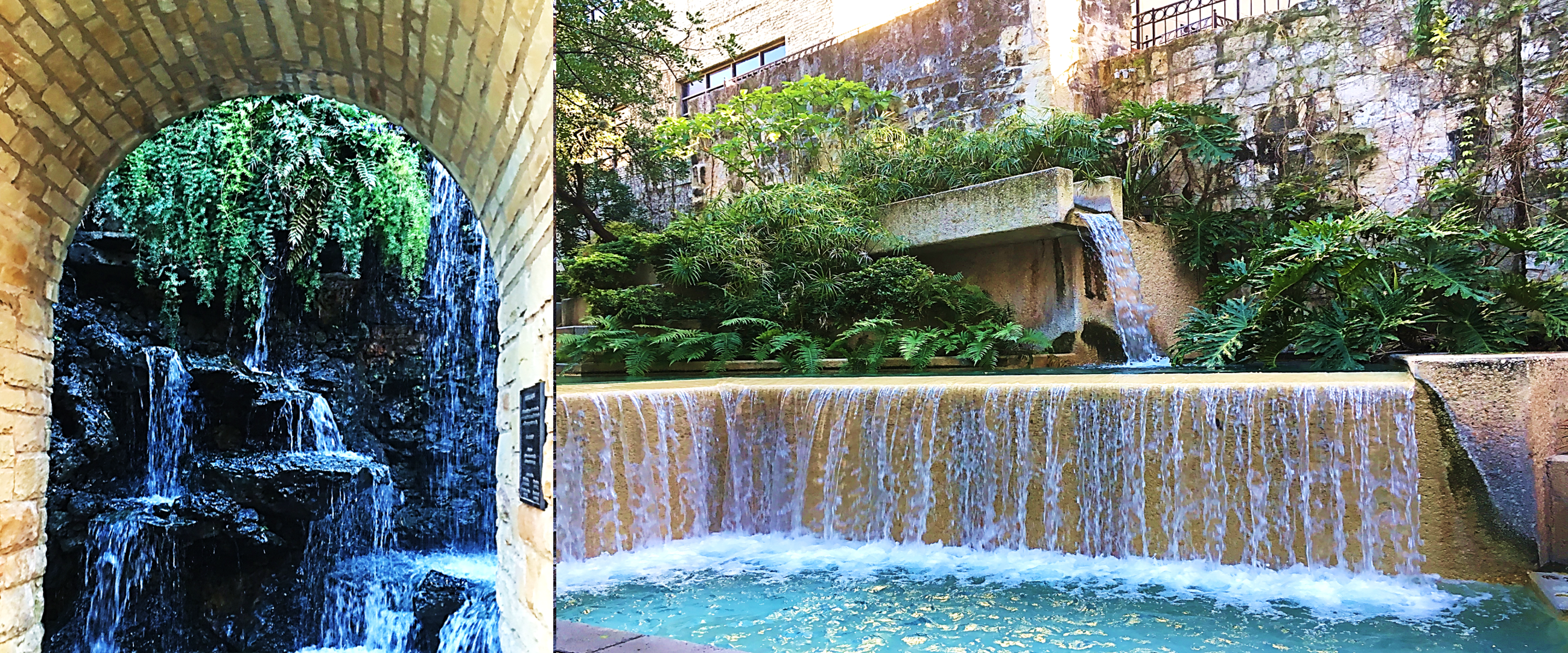 San Antonio Riverwalk waterfall