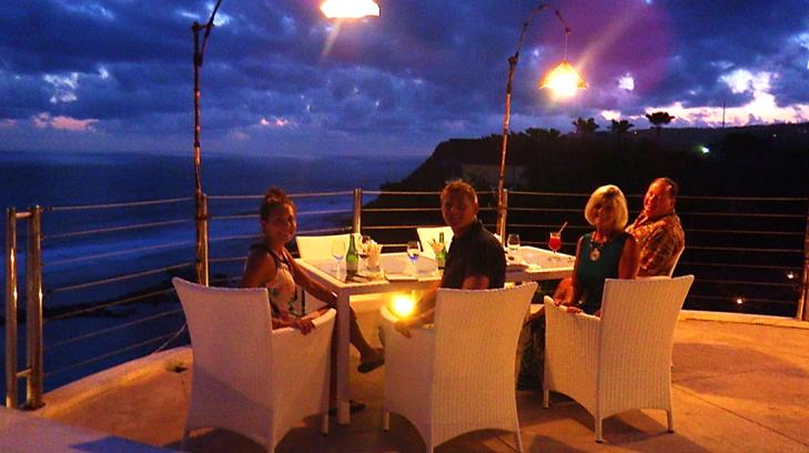 dinner at karma beach bali