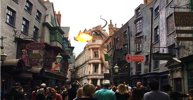 Dragon Breathing Fire Diagon Alley