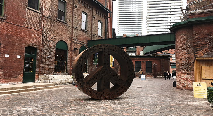distillery district peace sign