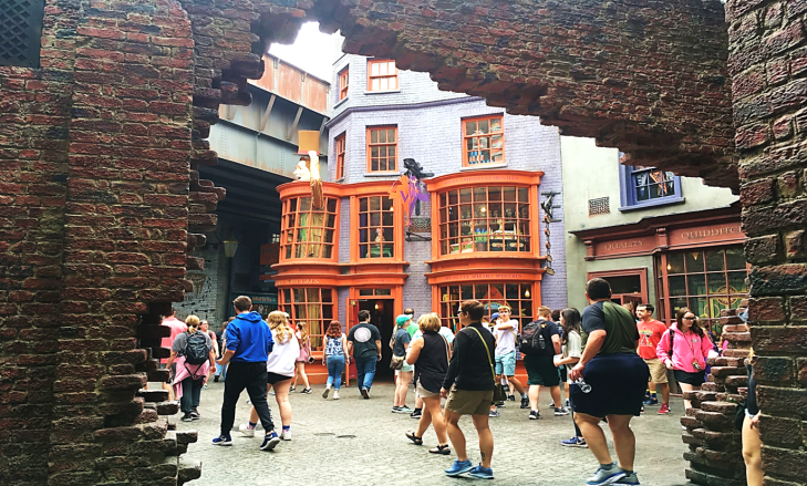 Entrance to Diagon alley Universal