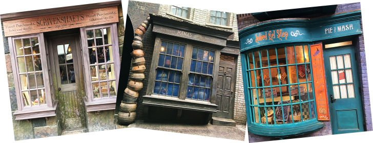 Shops in Diagon Alley Universal