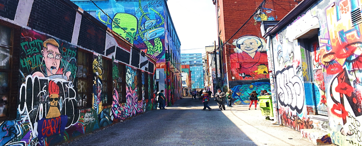 block of graffiti alley