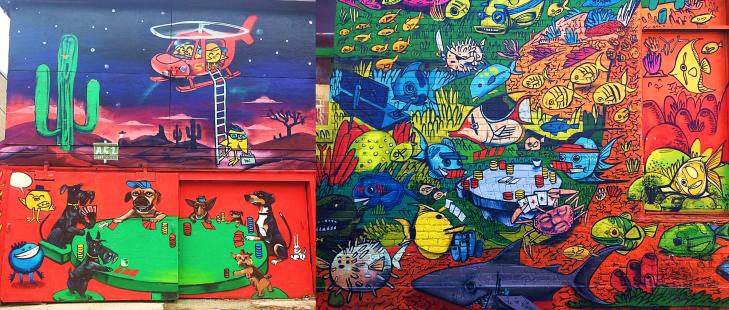 poker graffiti in graffiti alley