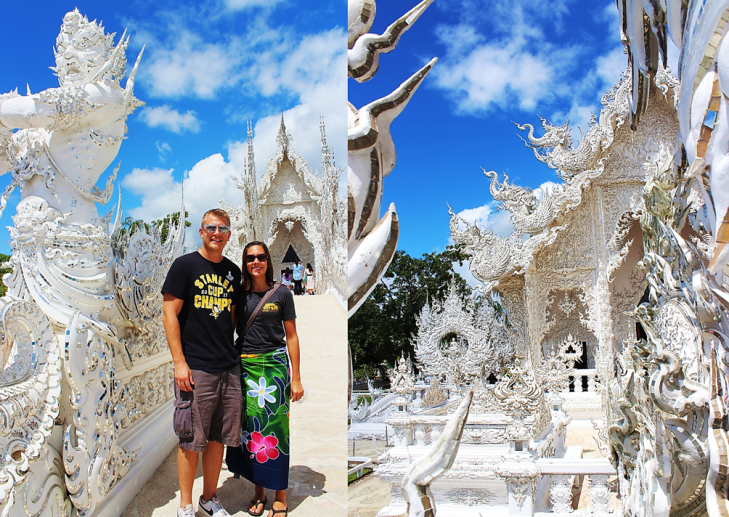 us on white temple bridge chiang mau