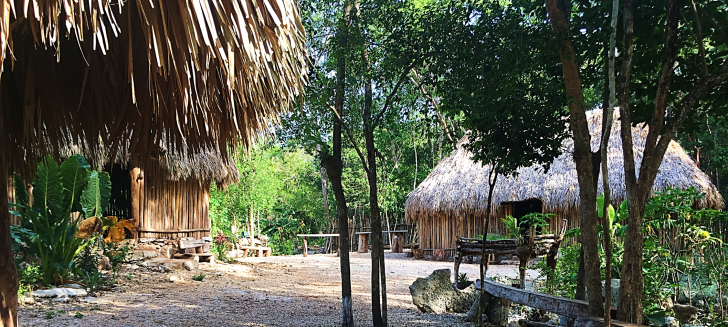 group of mayan homes in quintana roo