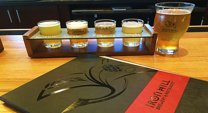 iron hill brewery beer flight