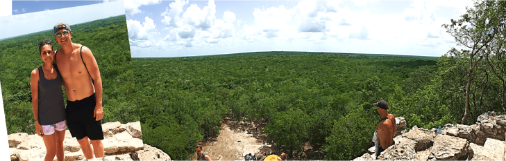 Top of Coba pyramid