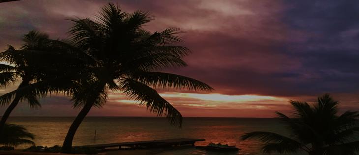 sunset in moorea.