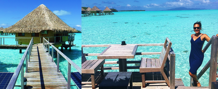 intercontinental overwater bungalow