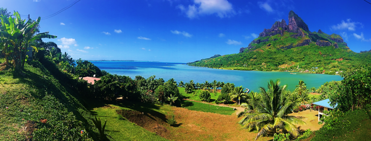view from biking in bora bora